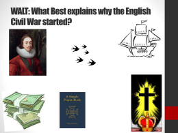 WALT: What Best explains why the English Civil War