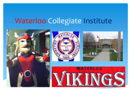 student leaders powerpoint - Waterloo Collegiate Institute