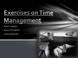 Exercise on Time Management