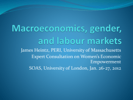 Macroeconomics, gender, and labour markets