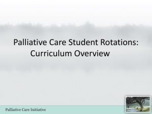 Palliative Care Initiative: PowerPoint Presentation