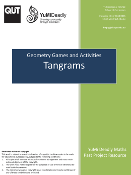 Tangrams (PowerPoint, 140KB) - YuMi Deadly Centre