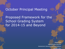 School Accountability and DDEOC PPT – Principals October Meeting