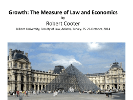 Growth: The Measure of Law and Economics by