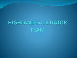 HIGHLAND FACILITATOR TEAM - Generations Working Together