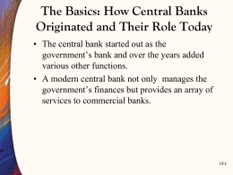 The Basics: How Central Banks Originated and Their Role Today