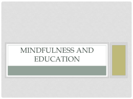 Mindfulness and Education - St. Cloud State University