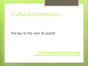 Cultural immersion the key to the next 50 years
