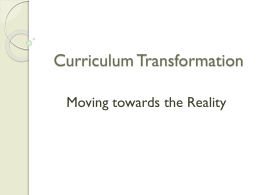 Ministry of Education – Curriculum Transformation