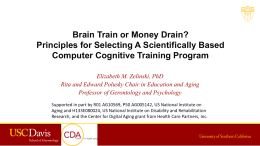 Elizabeth Zelinski – Brain Train or Money Drain?