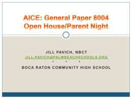 Getting to Know AICE: General Paper