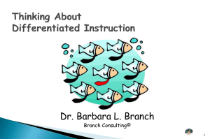 Thinking About Differentiated Instruction - DrBabs