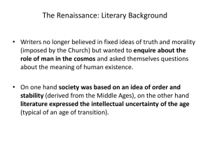The Renaissance: Literary Background