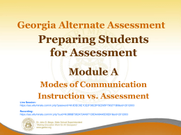 Teach, then Assess! - Georgia Department of Education
