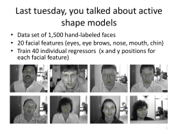 Lecture 14: Active appearance models*