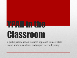 YPAR in the Classroom