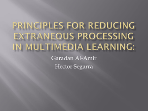 Principles for Reducing Extraneous Processing in