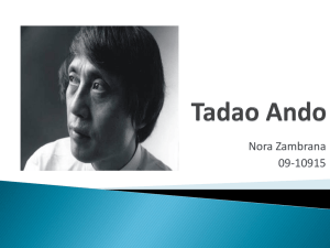 Tadao Ando ppt - econstruction-NZ