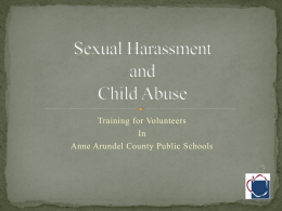 Sexual Harassment and Child Abuse