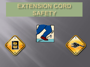 EXTENSION CORD SAFETY