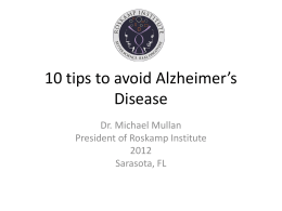 10 tips to avoid Alzheimer Disease