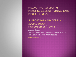 the paper in full - Centre for Social Work Practice