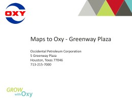 Houston Greenway Plaza - OxyLink
