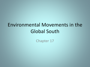 Environmental Movements in the Global South