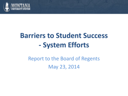 Addressing Barriers to Student Success
