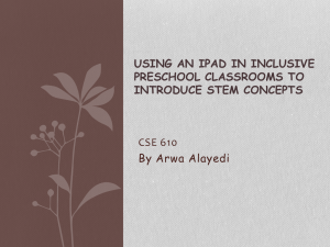 Presentation iPadand Children
