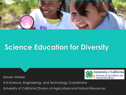 Science Education for Diversity - 4