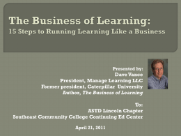 15 Steps to Running Learning Like a Business