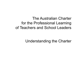 Understanding the Charter presentation (Non