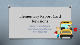 Elementary Report Card Powerpoint