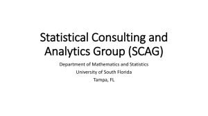 Statistical Consulting and Analytics Group
