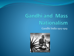 Gandhi and Mass Nationalism