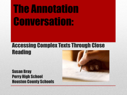 The Annotation Conversation
