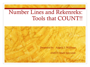 Number Lines and Rekenreks - Region10RSS