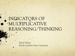 indicators of multiplicative thinking