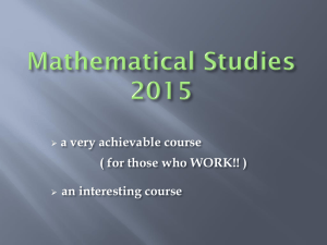 Mathematical studies