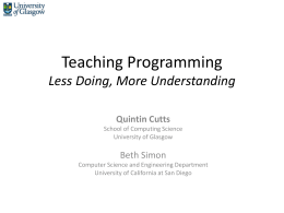 Slides - Computing At School