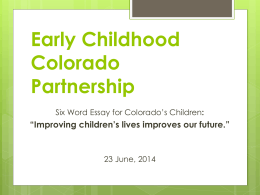 ECCP Meeting-June2014 - Early Childhood Colorado
