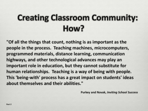 Creating Classroom Community