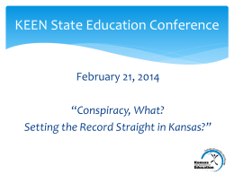 Conspiracy, What? Setting the Record Straight in Kansas?