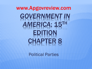 Government in America, Chapter 8