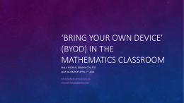 BYOD in the Maths Classroom Powerpoint
