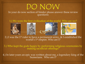 Chapter 3 Section 3 Sumerian Achievements