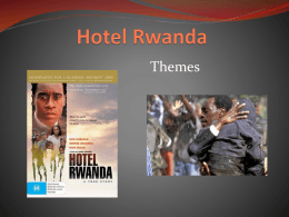 Can somebody please help me to write an essay on Tatiana Rusesabagina character in Hotel Rwanda ?