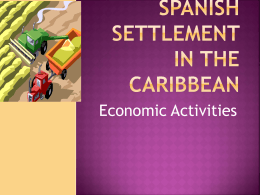 Spanish settlement in the Caribbean