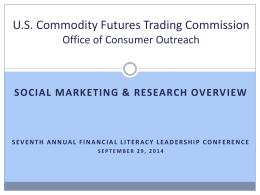 CFTC Consumer Affairs - Society for Financial Education and